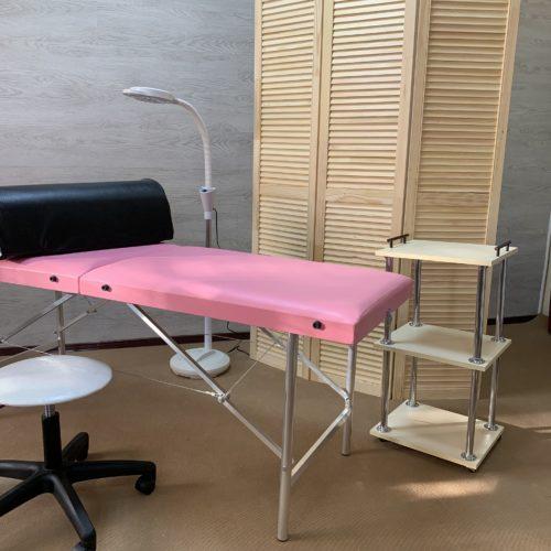 Массажные столы и кушетки облегчённые на алюминиевых ножках